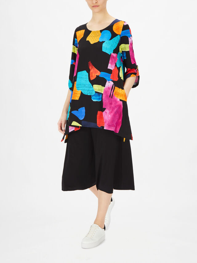 Mia Roll Sleeve Tunic with Side Pockets