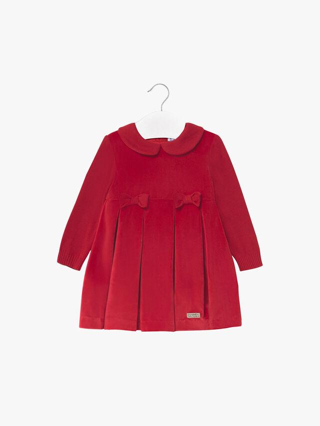 Suedette & Knit Bow Dress