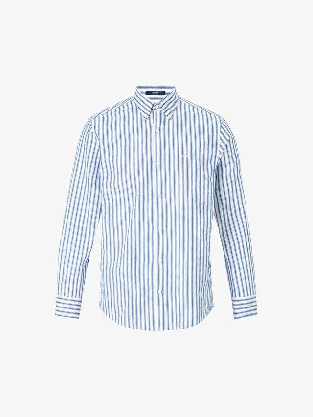 Seersucker Stripe Regular Shirt