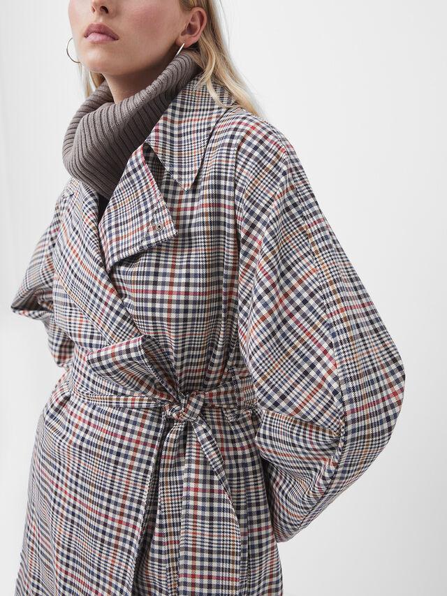 Zita Check Coat