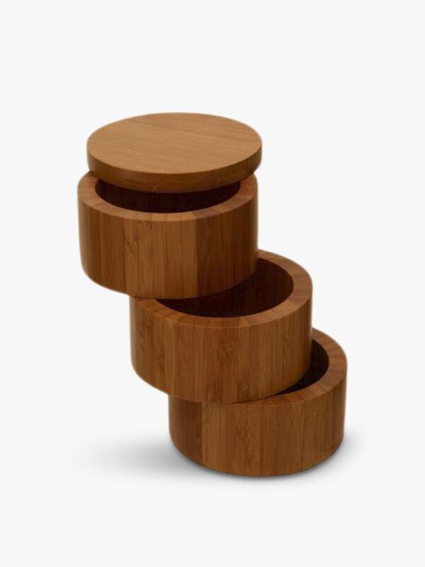Bamboo Natural Cylindrical Storage Set