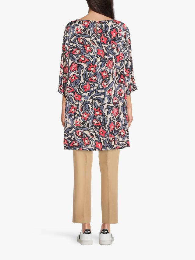 Gebia Floral Print Crinkle Tunic