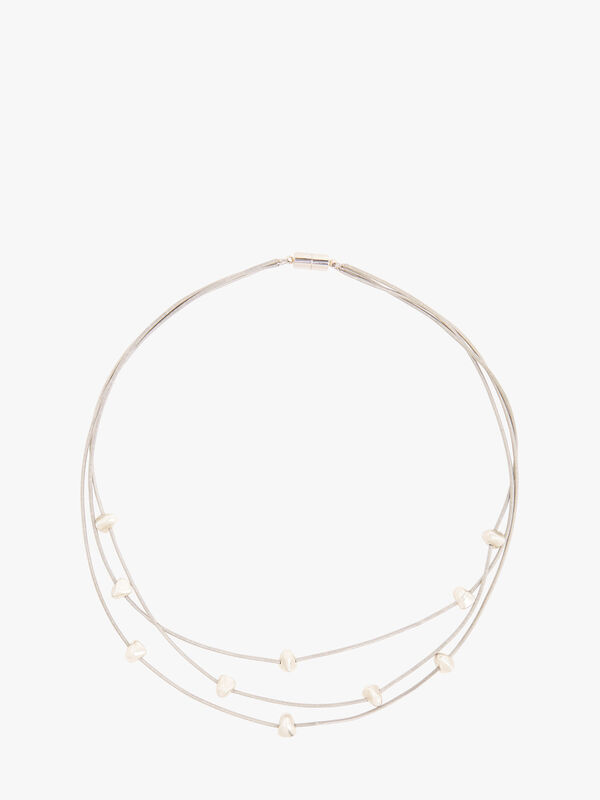 Bora 3 Strand Short Necklace