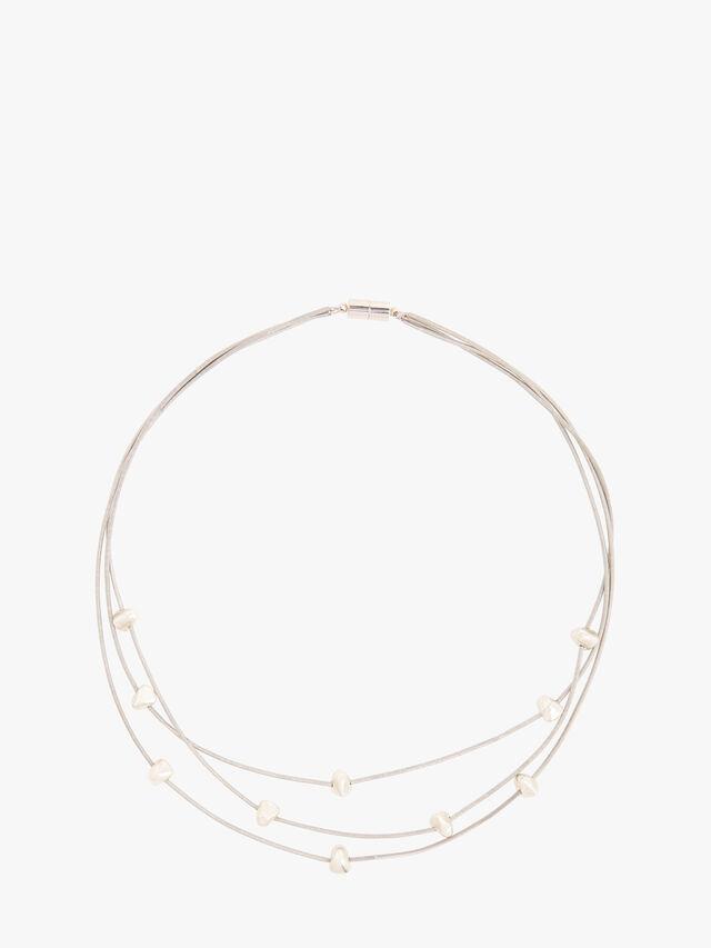 Bora 3 Strand Short Necklace