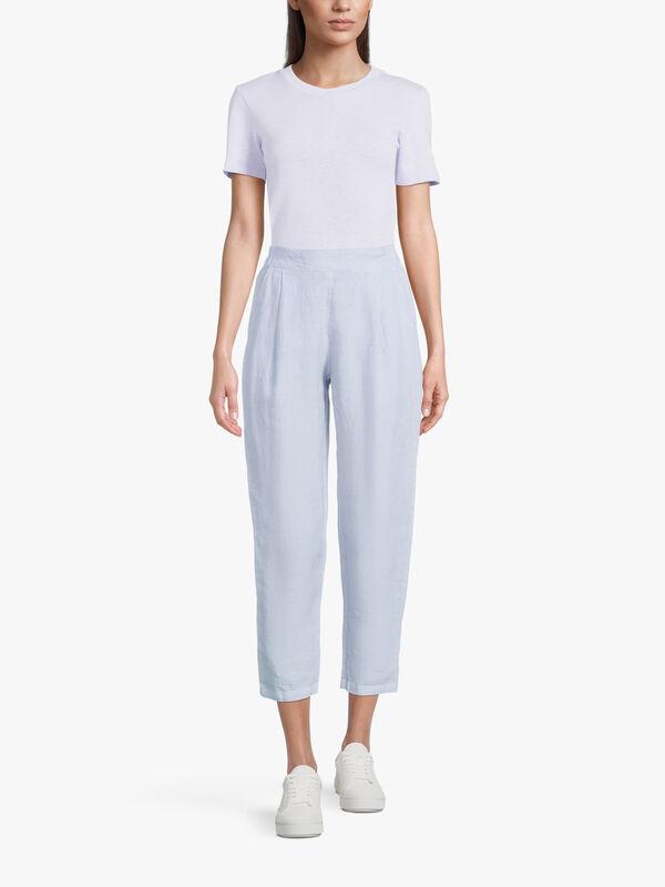 Tapered Linen Trouser