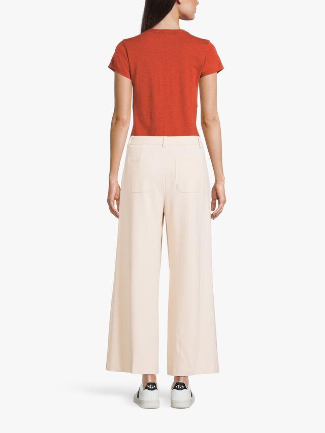 Ponte Straight Crop Trouser