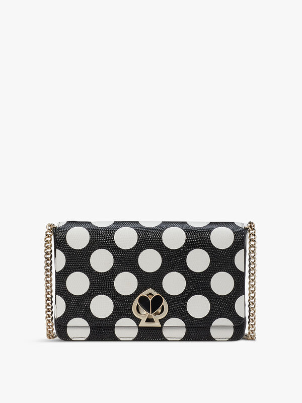 Nicola Embossed Dot Chain Wallet