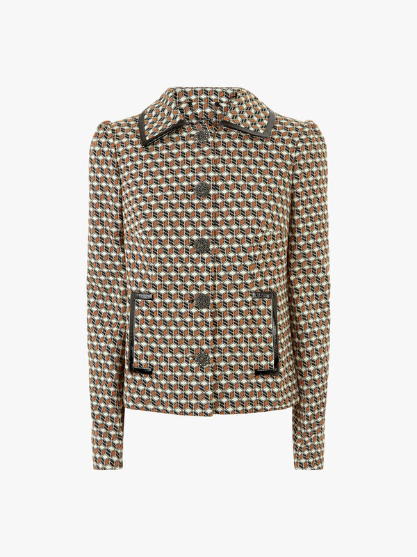 Luka Cubist Stretch Jacquard Jacket