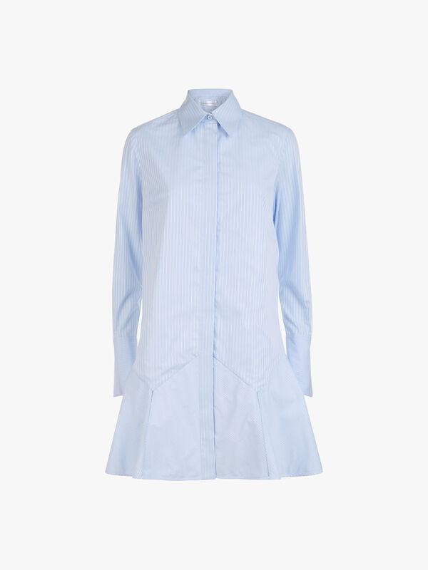 Flounce Hem Shirt Dress