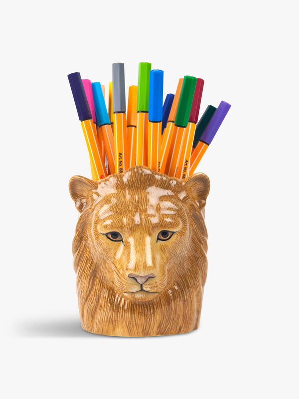 Lion Pencil Pot