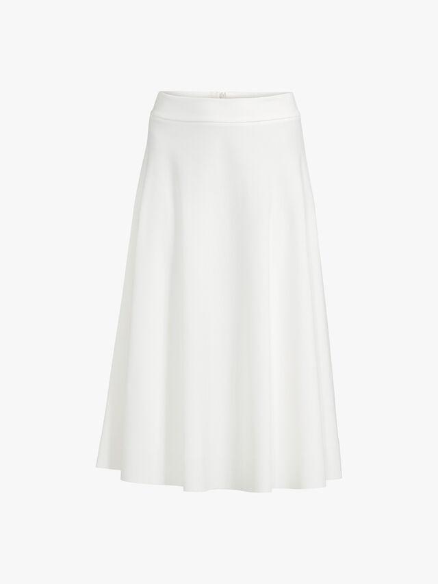 A Line Pull On Midi Skirt