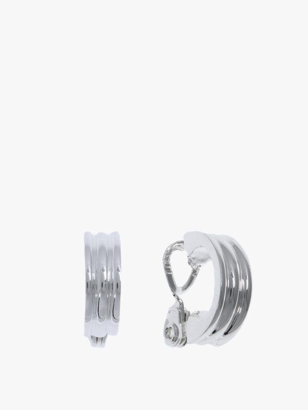 Silver Tone Statement Clip On Earrings