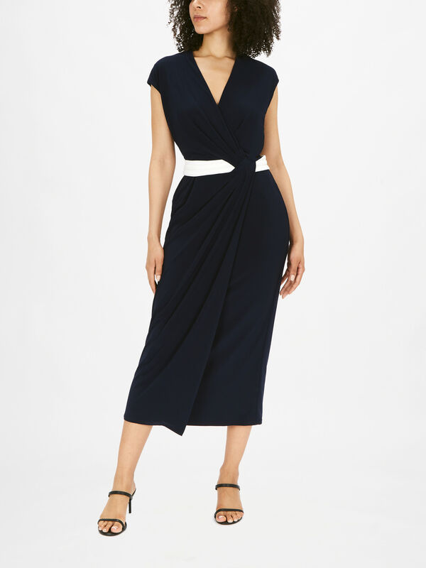 Rhiannan Wrap Detail Midi Dress