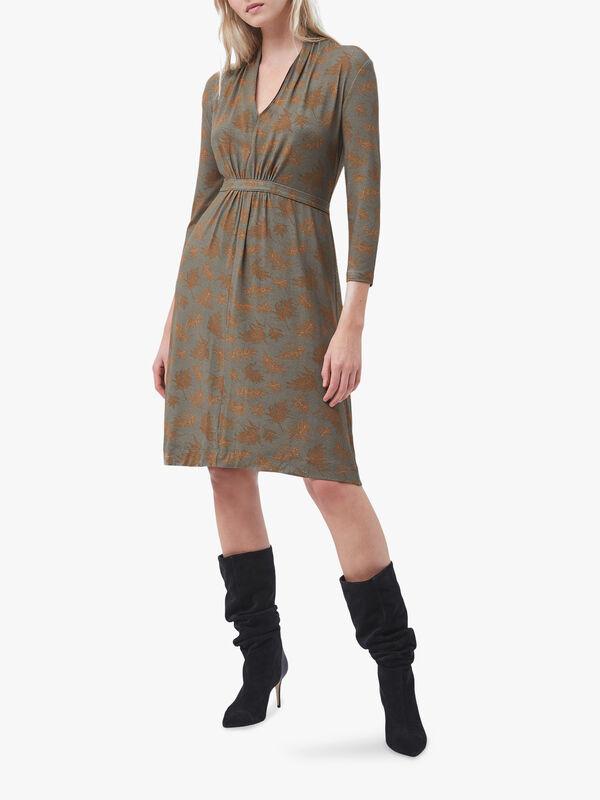 Esma Meadow Jersey V-Neck Dress