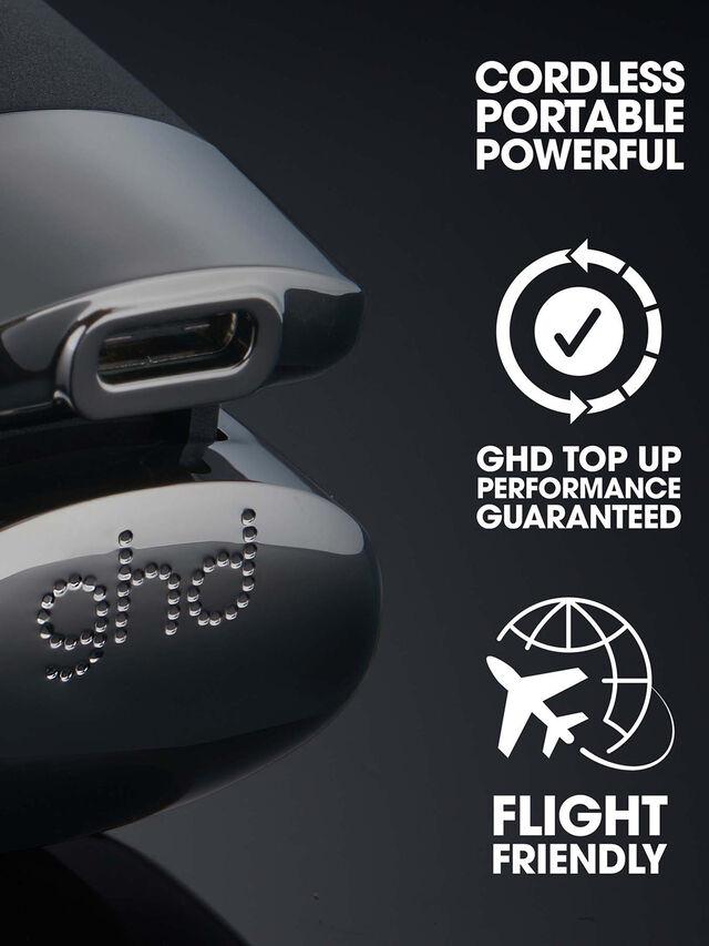 ghd Unplugged & Flight Christmas Gift Set - Cordless Hair Straightener & Travel Hair Dryer