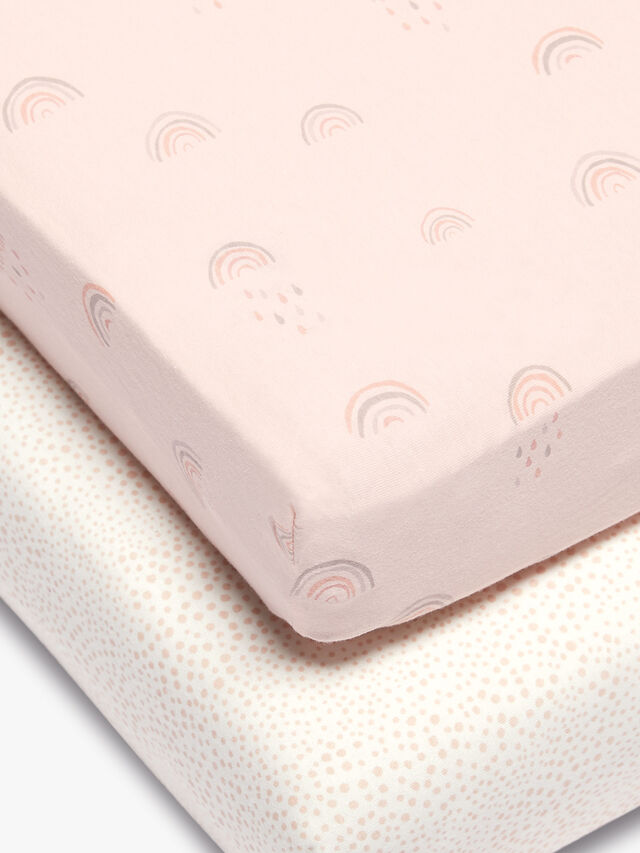2 Cot bed Fitted Sheets