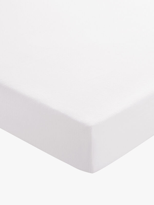 Brushed Cotton Plain Dye Fitted Sheet