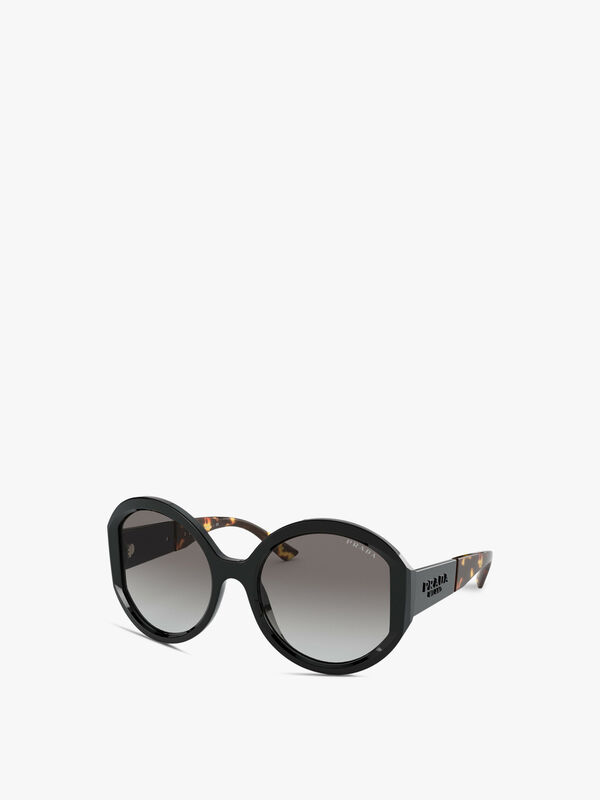 Round Acetate Torm Arm Sunglasses