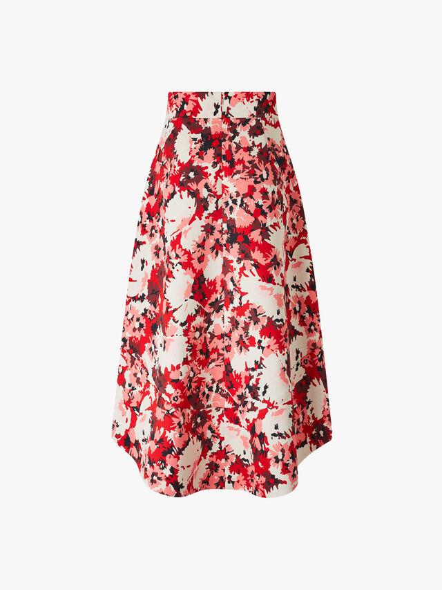 Promessa Printed Pleated Skirt