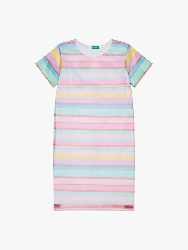 Stripe Tulle Dress