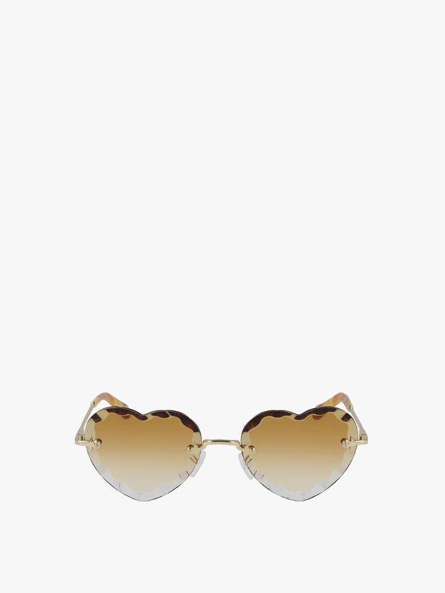 Rosie Heart Shell Edge Sunglasses