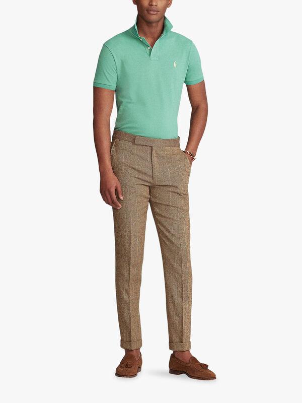 Slim Fit Mesh Polo Shirt