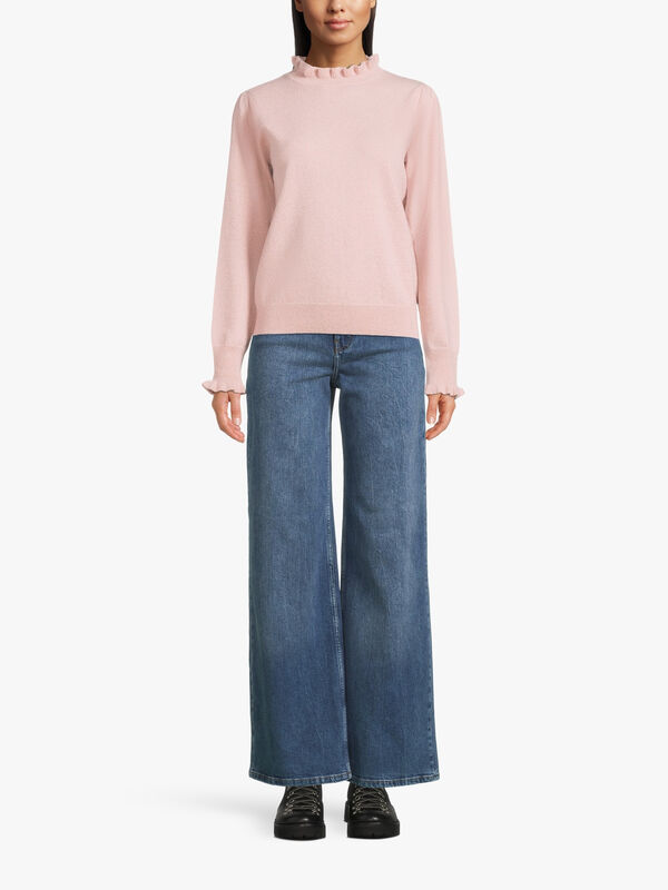 Carrie Lurex Polo Neck Knit