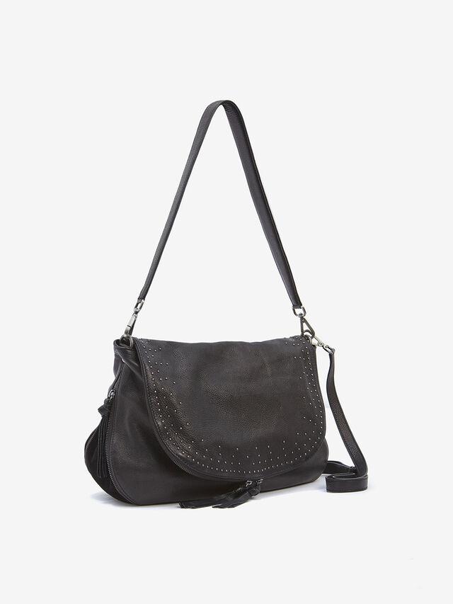 Lee Black Studded Leather Bag