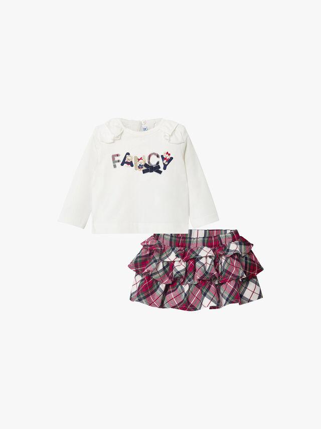 Tartan Layered Skirt & Top