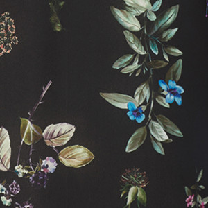 BOTANICAL PRINT WITH BLACK BACKGROUND